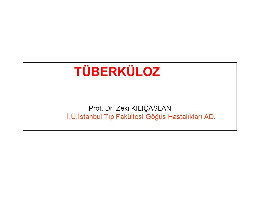 TÜBERKÜLOZ Prof. Dr. Zeki KILIÇASLAN