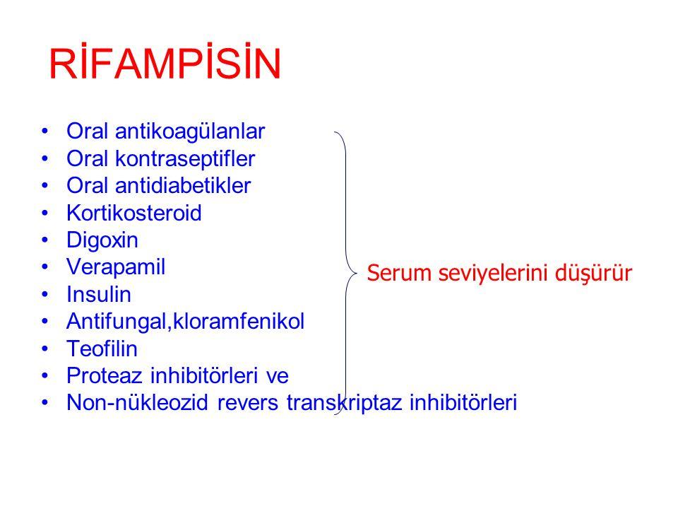 RİFAMPİSİN sitokrom p450'yi indükler