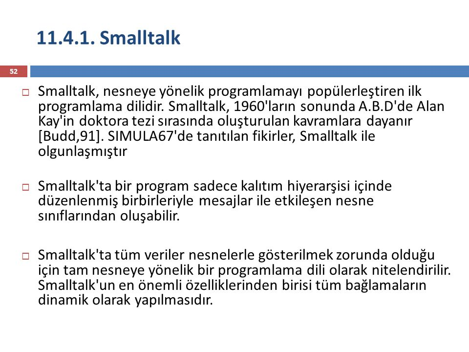 11.4.1. Smalltalk