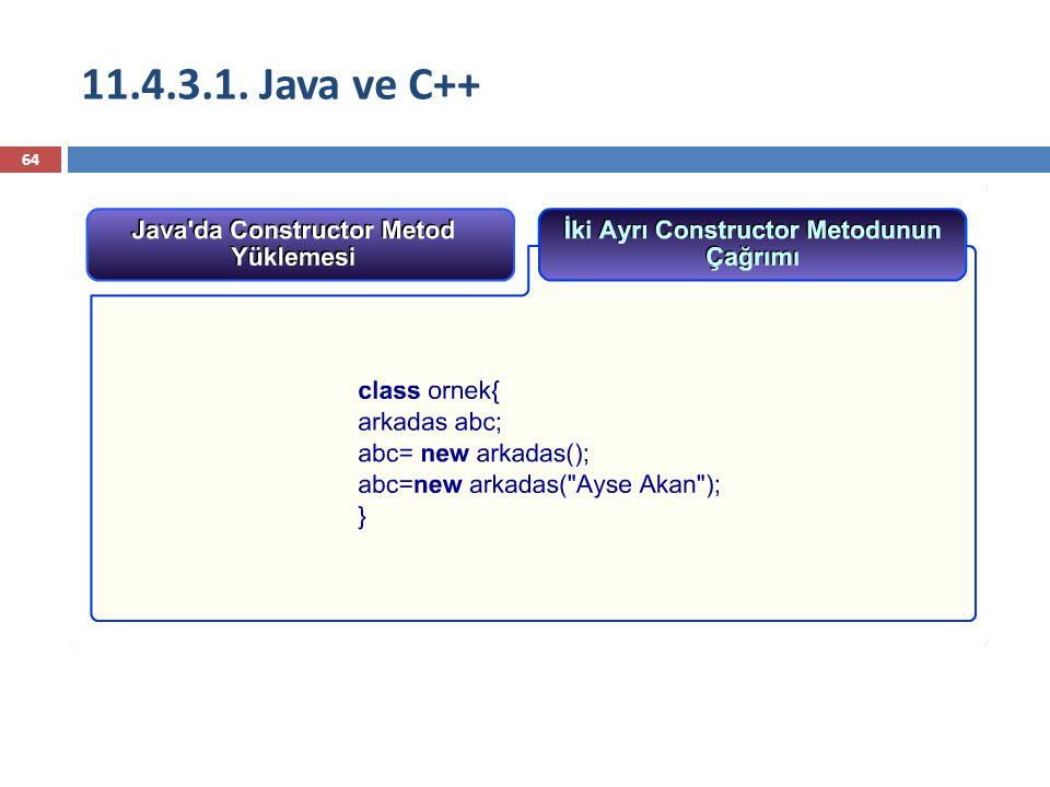 11.4.3.1. Java ve C++
