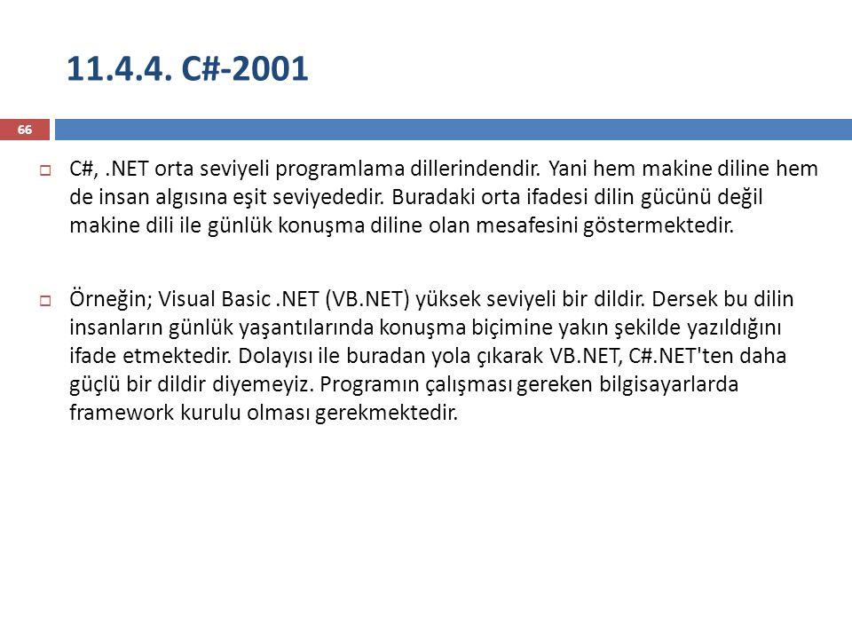 11.4.4. C#-2001