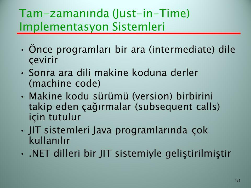 Tam-zamanında (Just-in-Time) Implementasyon Sistemleri