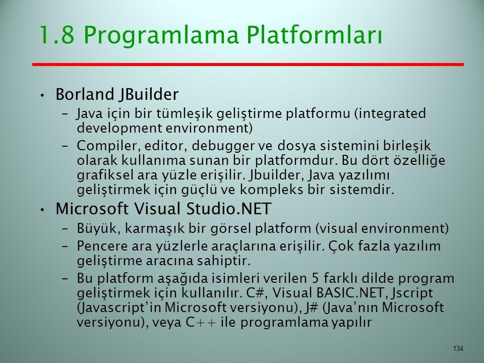1.8 Programlama Platformları