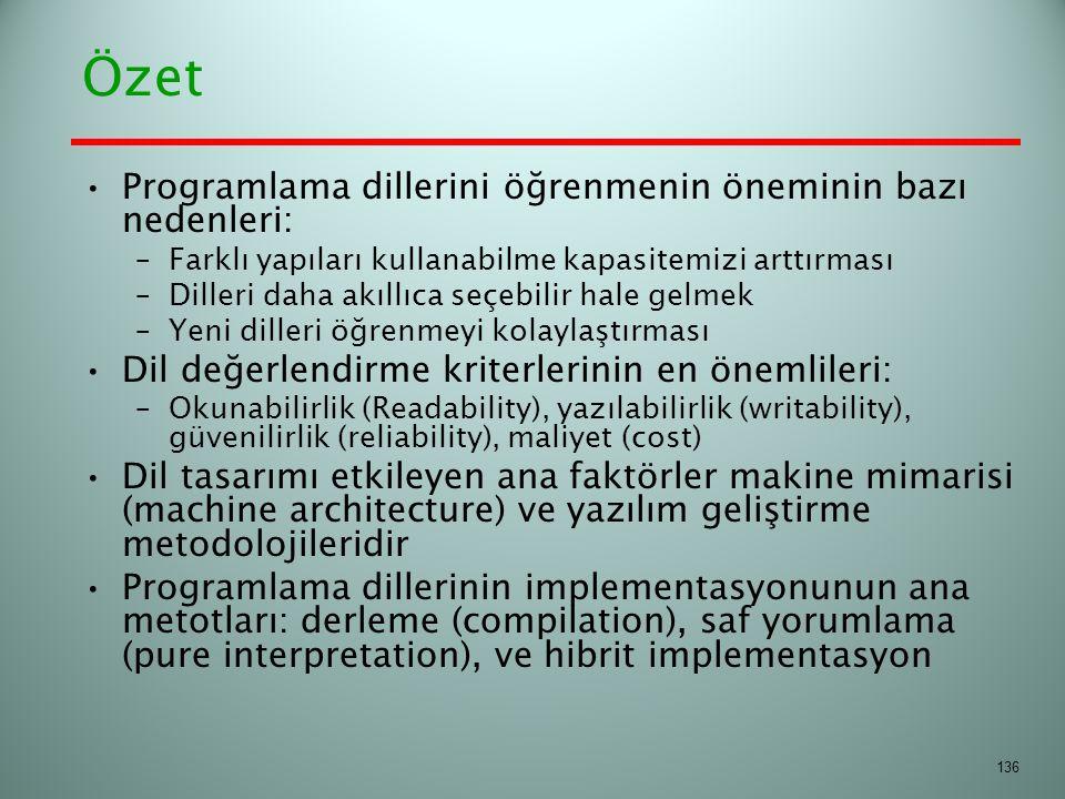 Özet Programlama dillerini öğrenmenin öneminin bazı nedenleri: