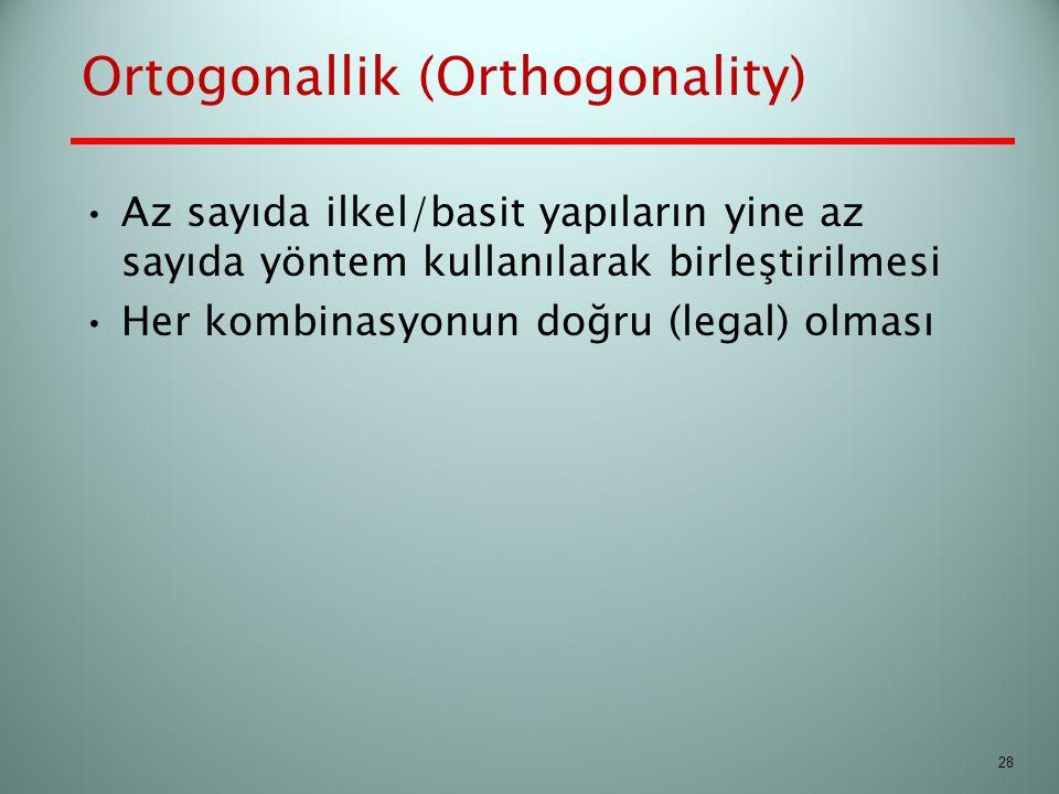Ortogonallik (Orthogonality)