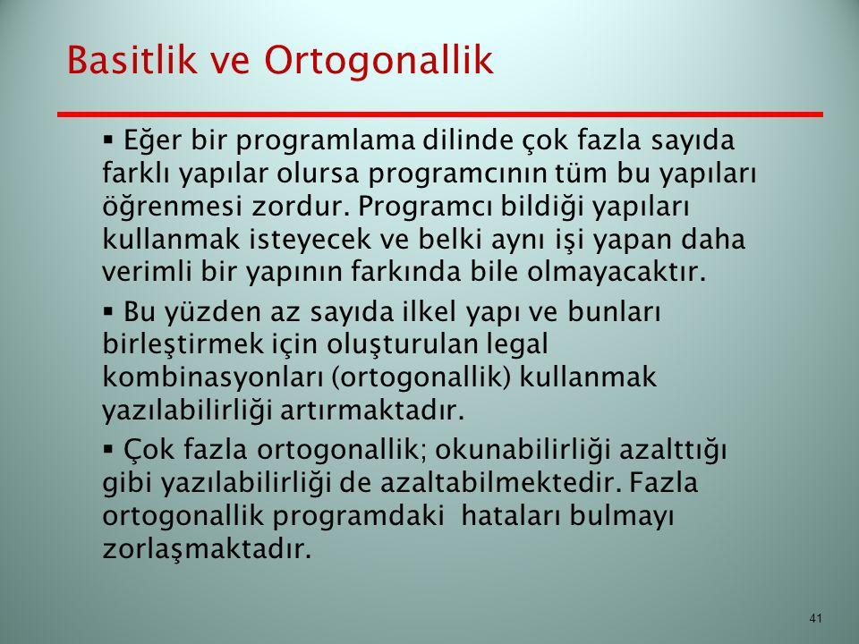 Basitlik ve Ortogonallik