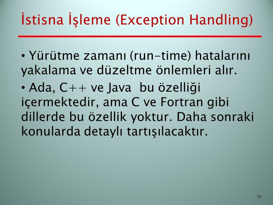 İstisna İşleme (Exception Handling)