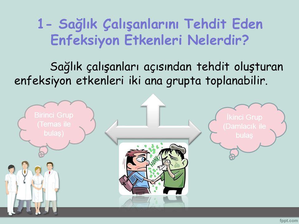 1- Sağlık Çalışanlarını Tehdit Eden Enfeksiyon Etkenleri Nelerdir