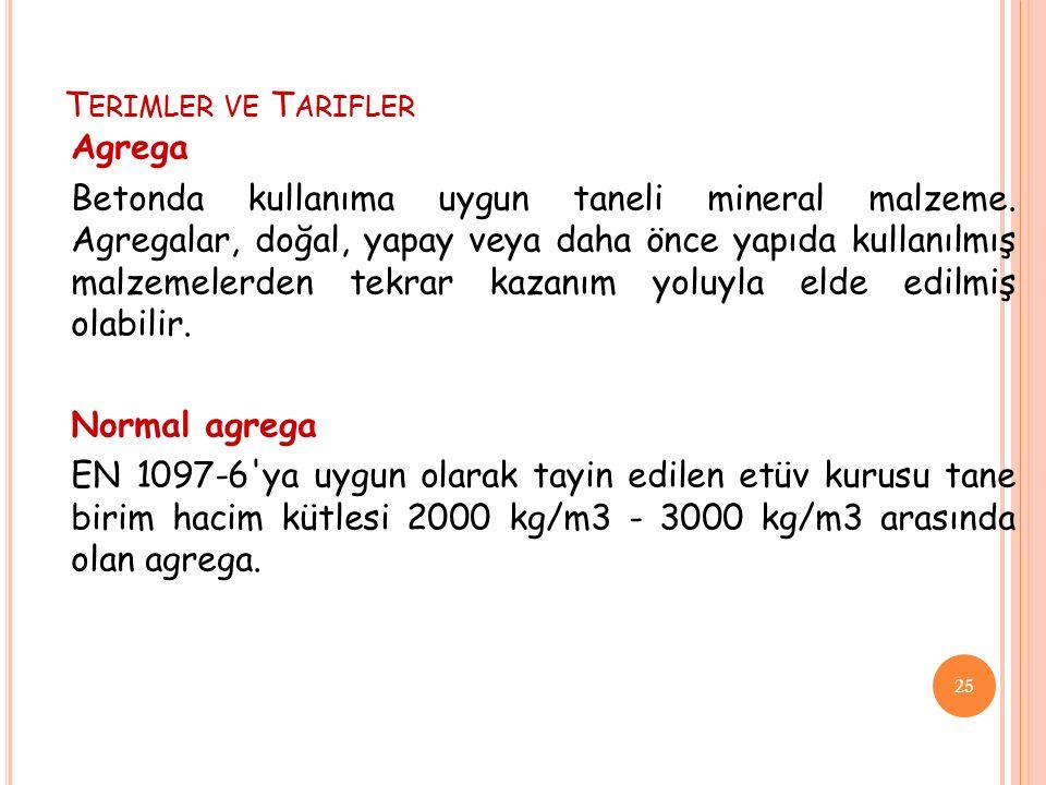Terimler ve Tarifler Agrega.