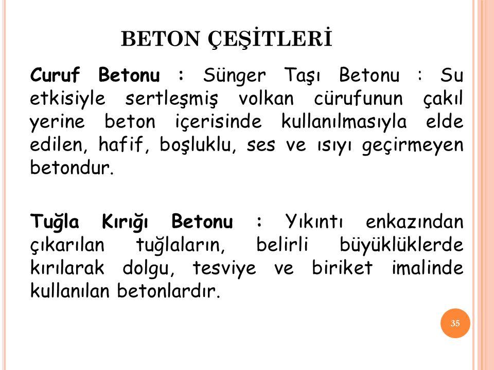 BETON ÇEŞİTLERİ