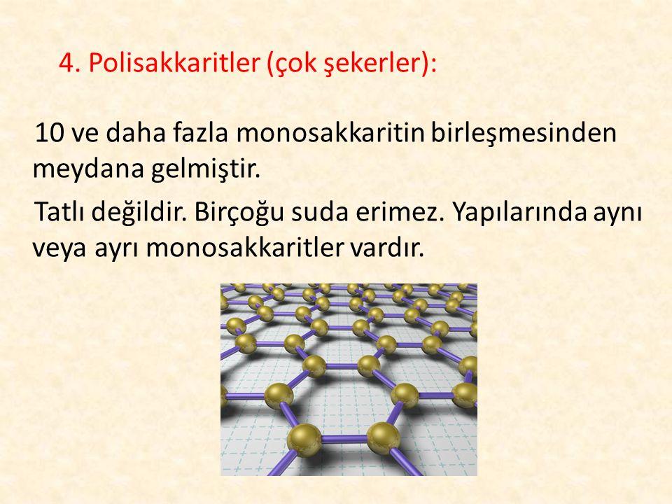 4. Polisakkaritler (çok şekerler):
