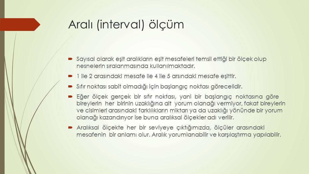 Aralı (interval) ölçüm