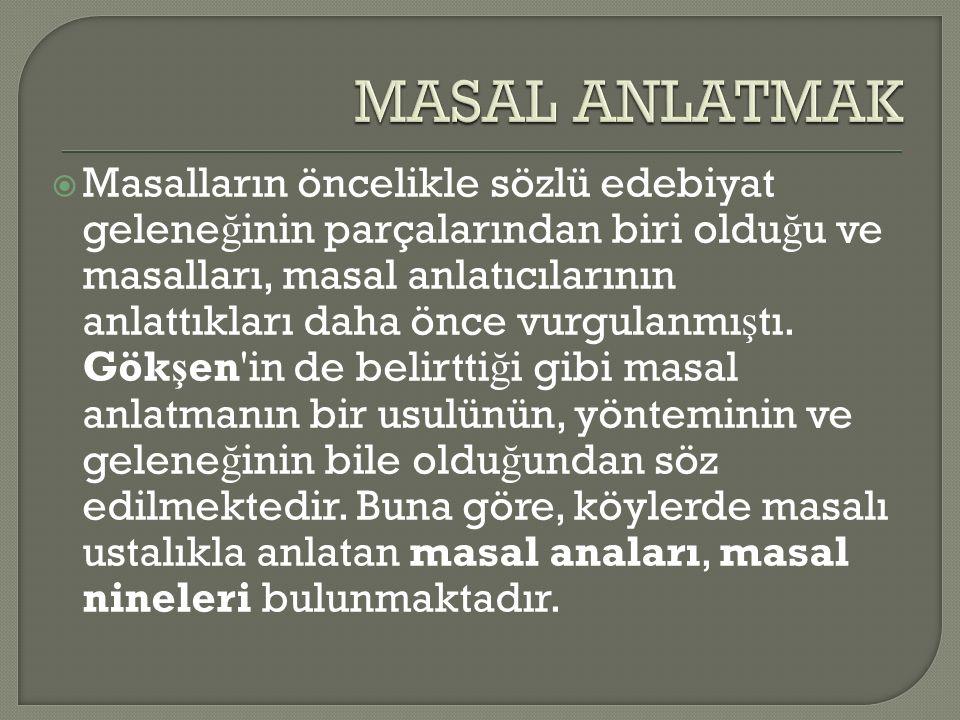 MASAL ANLATMAK