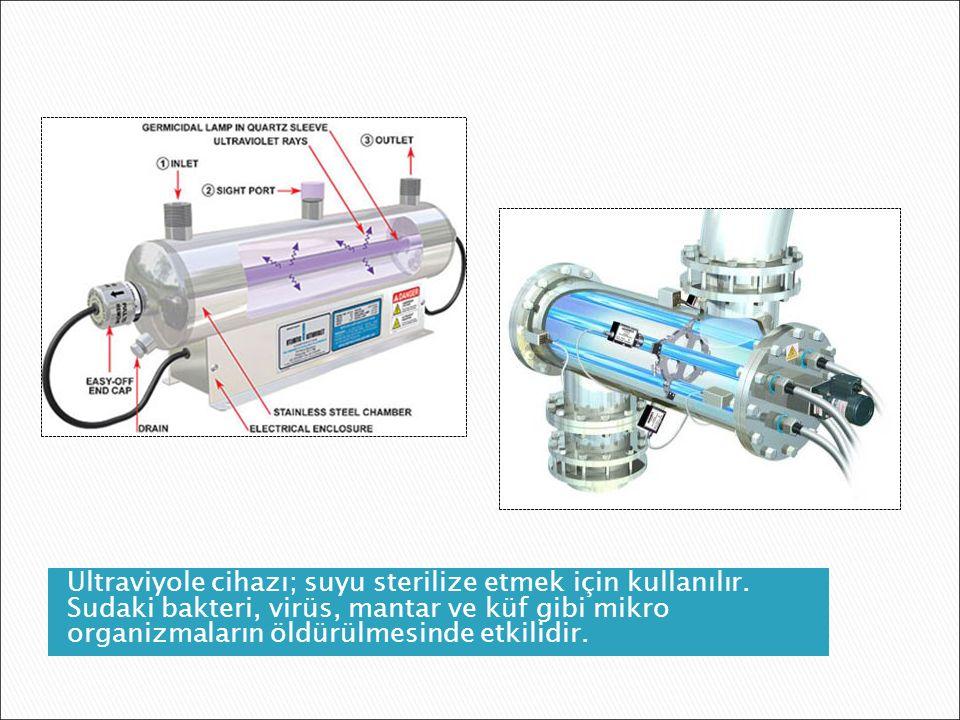 Ultraviyole cihazı; suyu sterilize etmek için kullanılır