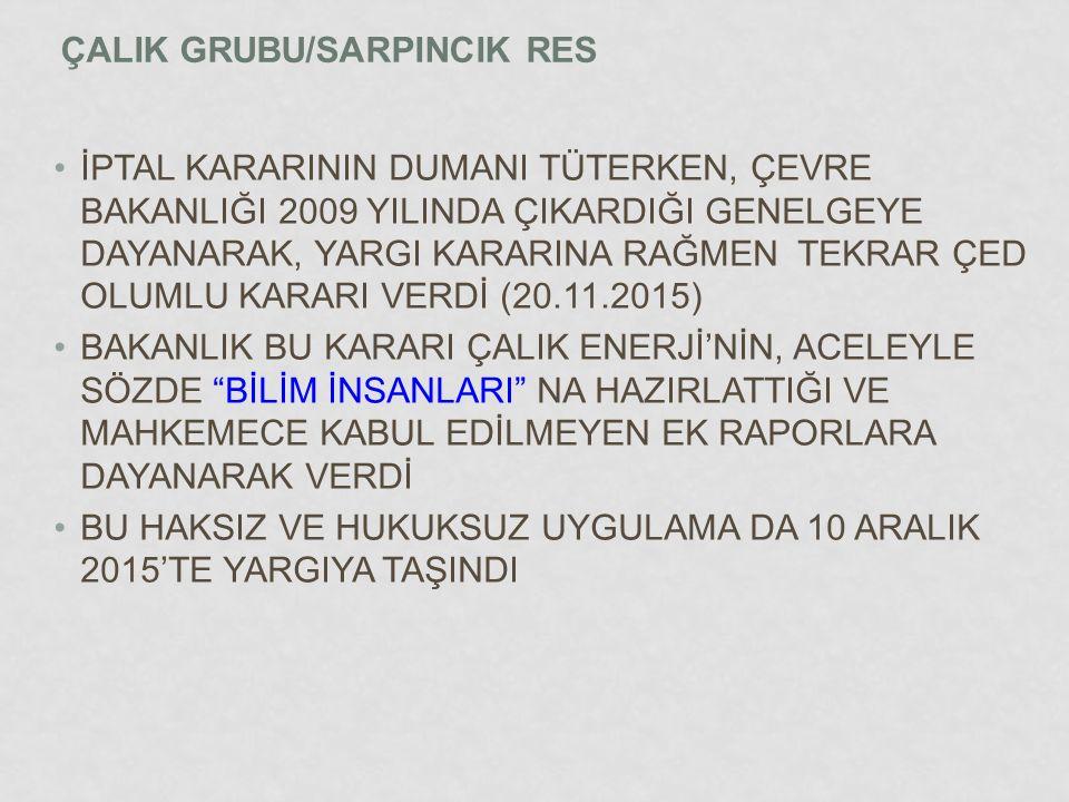 ÇALIK GRUBU/SARPINCIK RES