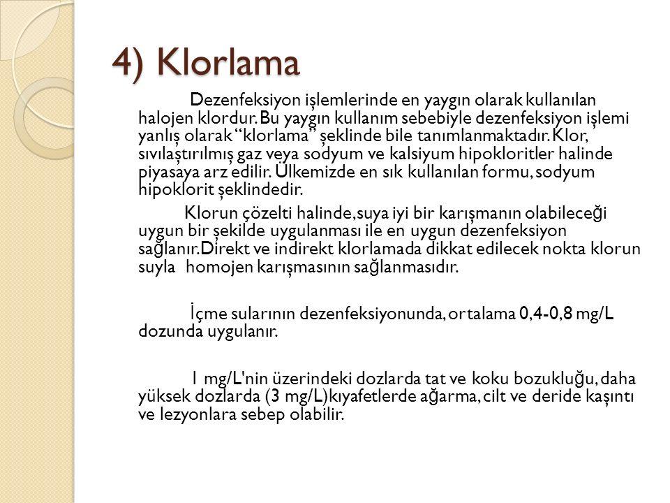 4) Klorlama