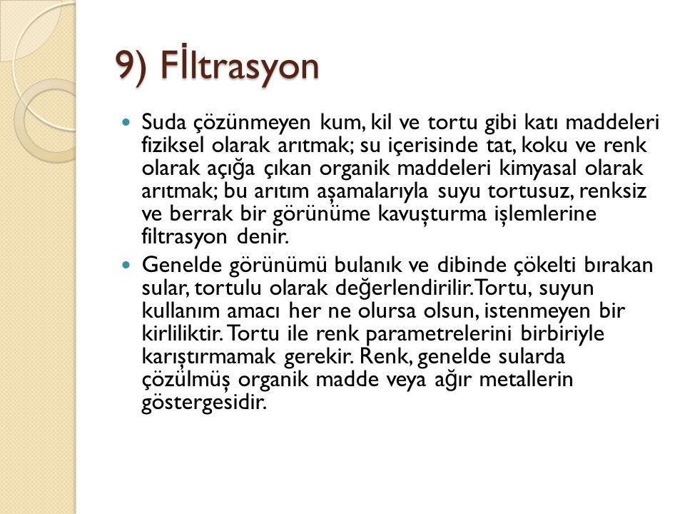 9) Fİltrasyon