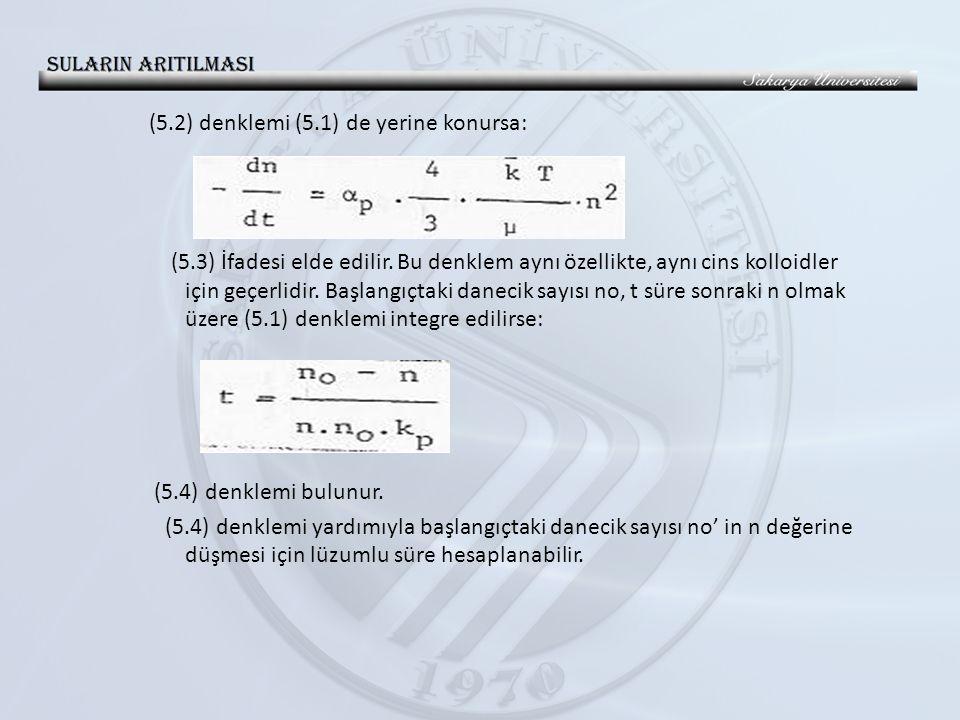 (5. 2) denklemi (5. 1) de yerine konursa: (5. 3) İfadesi elde edilir