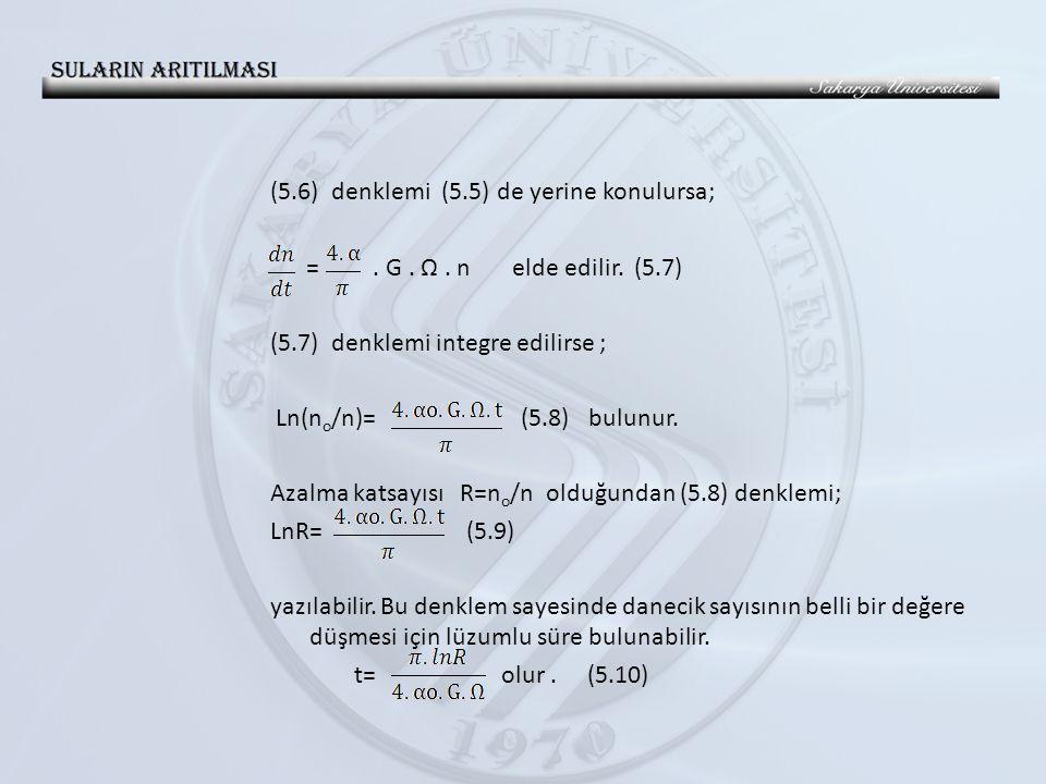 (5. 6) denklemi (5. 5) de yerine konulursa; =. G. Ω. n elde edilir. (5