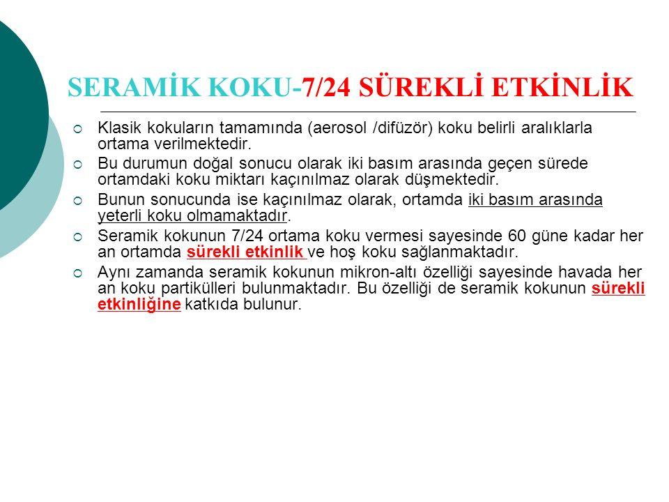 SERAMİK KOKU-7/24 SÜREKLİ ETKİNLİK