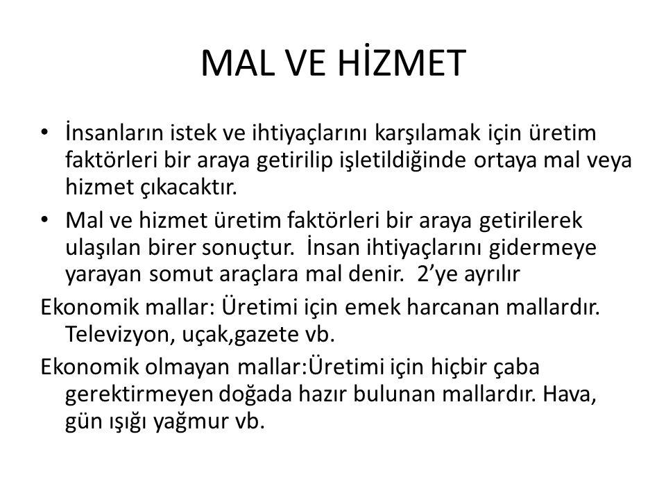 MAL VE HİZMET