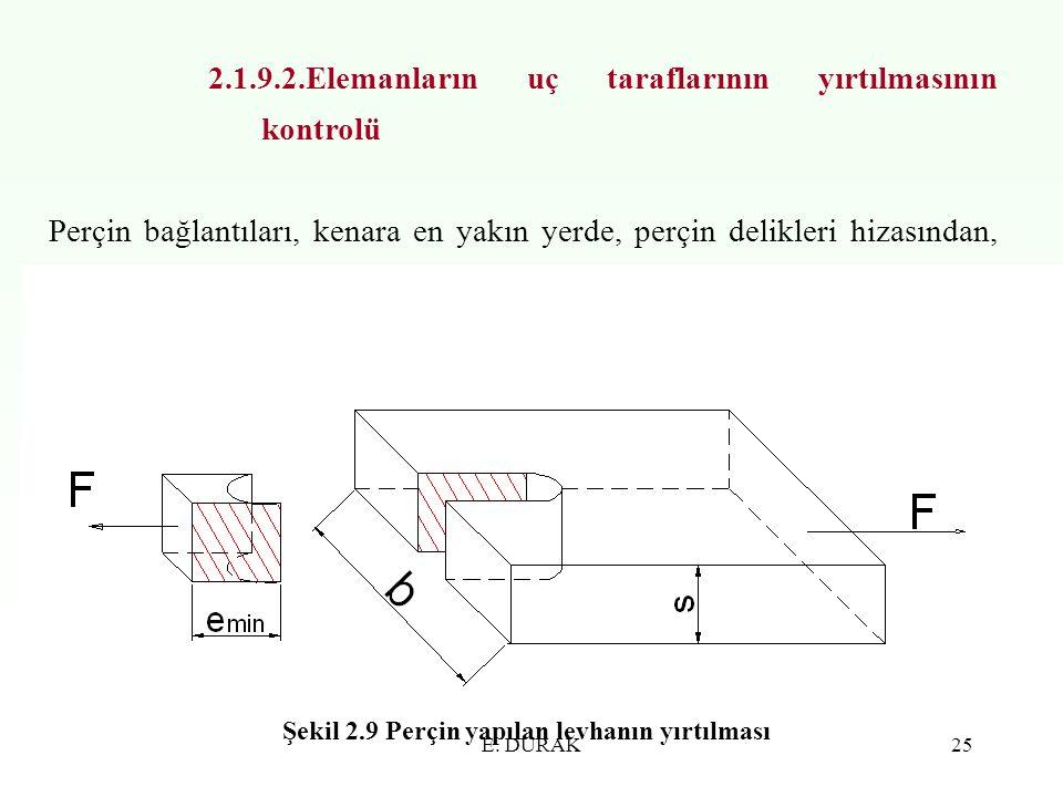 2.1.9.2.Elemanların uç taraflarının yırtılmasının kontrolü