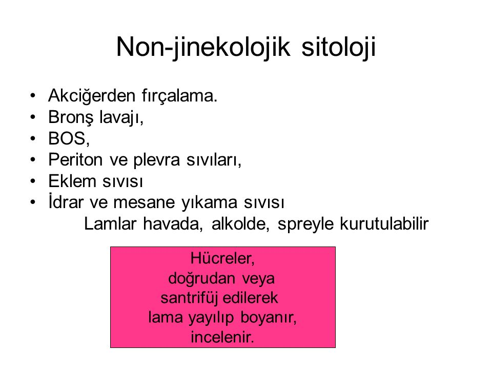 Non-jinekolojik sitoloji