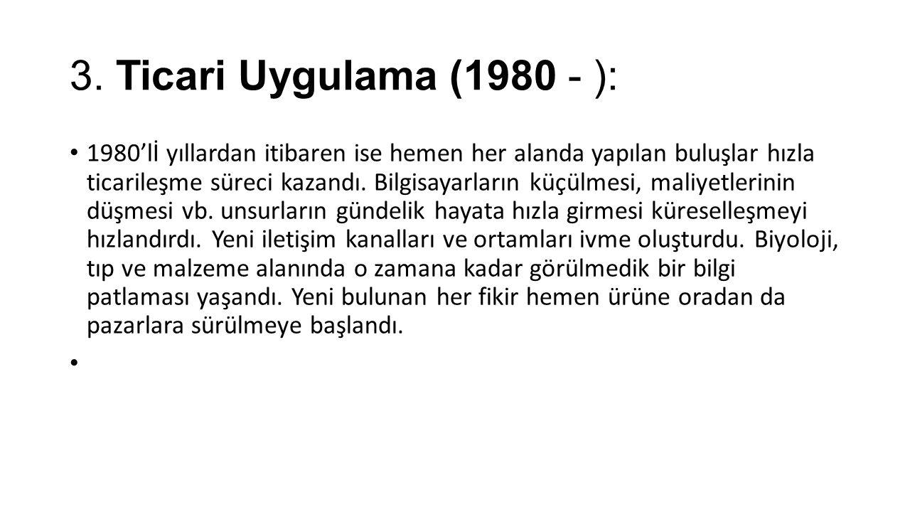 3. Ticari Uygulama (1980 - ):