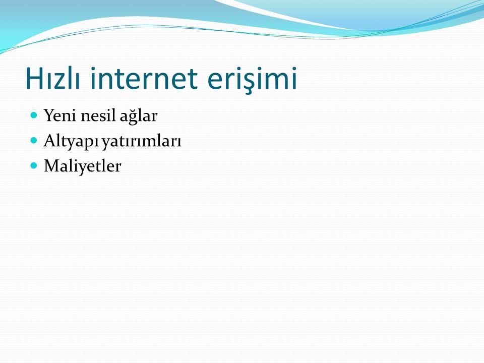 Hızlı internet erişimi
