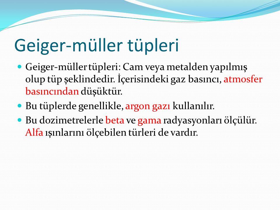 Geiger-müller tüpleri