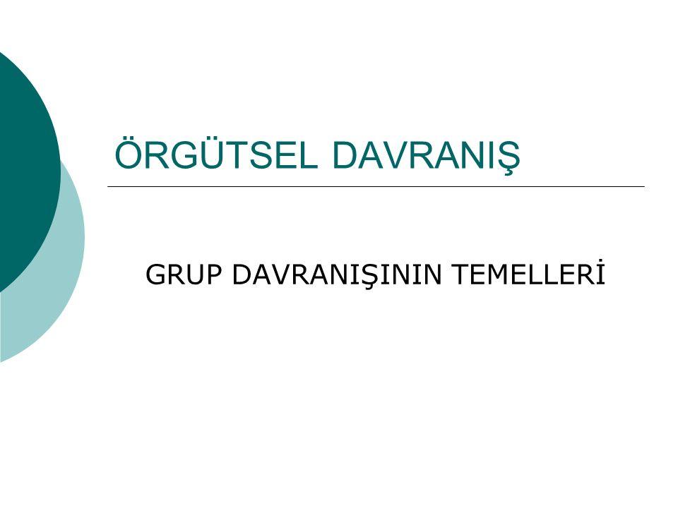 GRUP DAVRANIŞININ TEMELLERİ