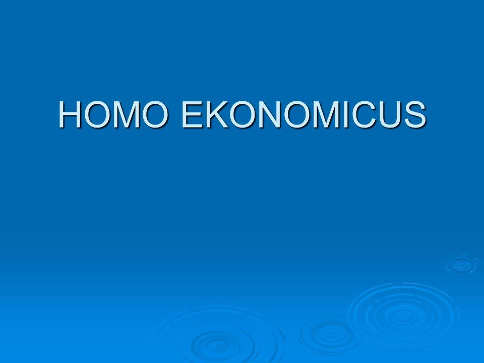 HOMO EKONOMICUS