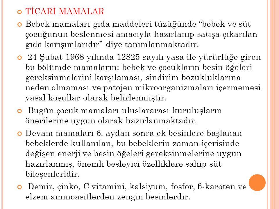 TİCARİ MAMALAR