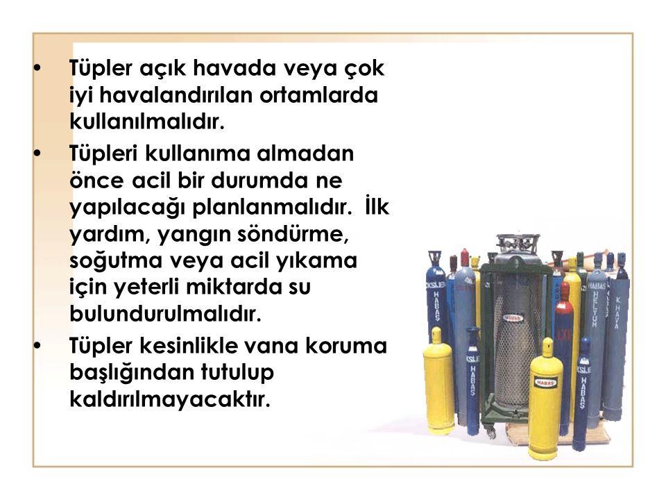 Tüpler açık havada veya çok iyi havalandırılan ortamlarda kullanılmalıdır.