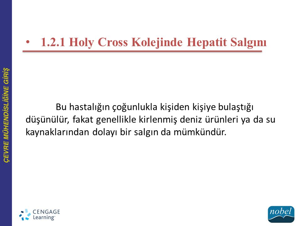 1.2.1 Holy Cross Kolejinde Hepatit Salgını