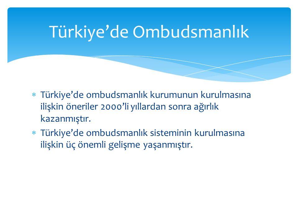 Türkiye'de Ombudsmanlık