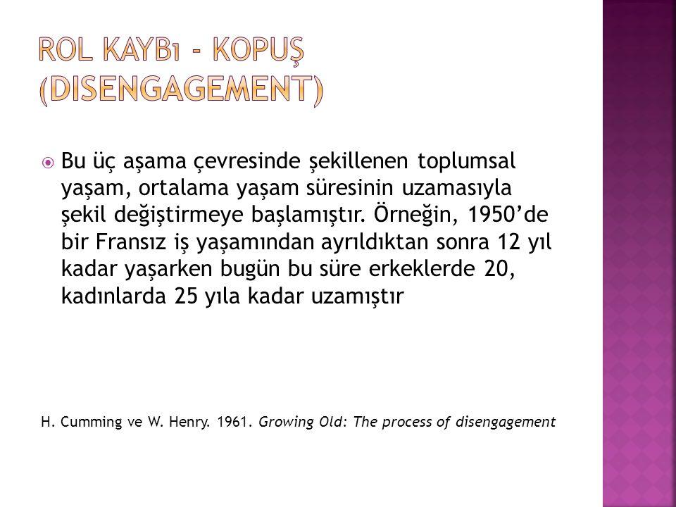 Rol Kaybı - Kopuş (disengagement)