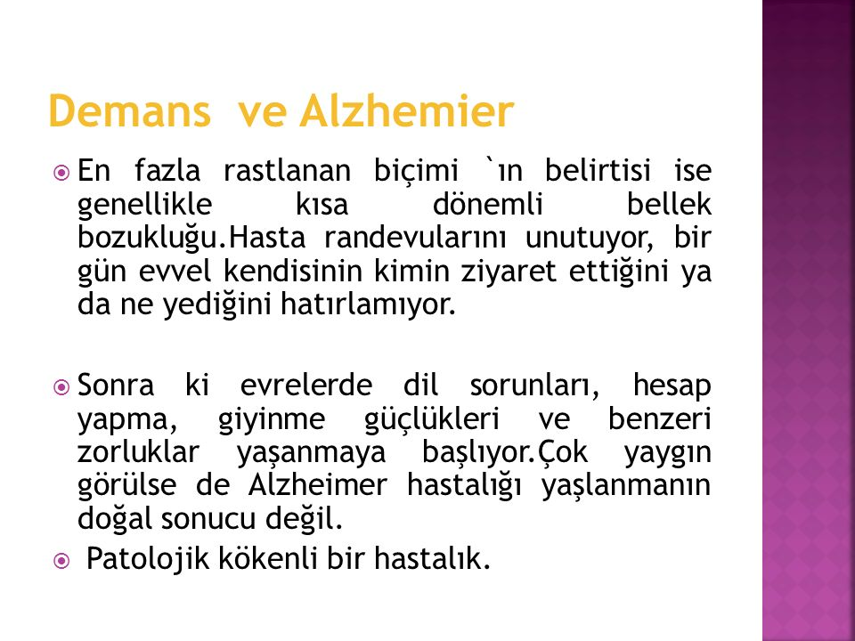 Demans ve Alzhemier