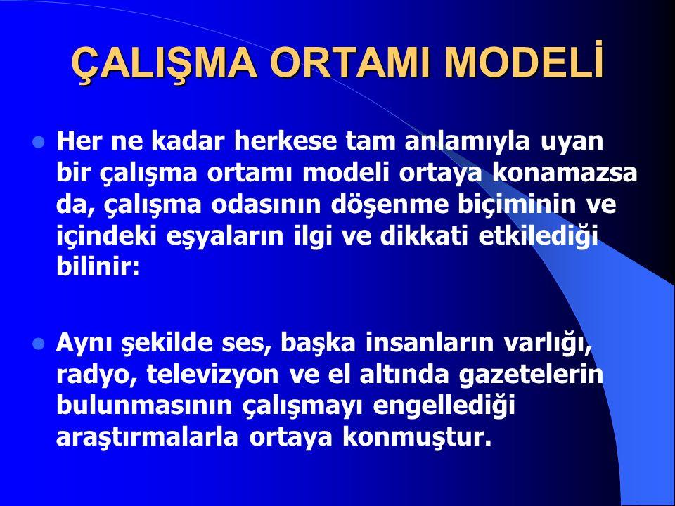 ÇALIŞMA ORTAMI MODELİ
