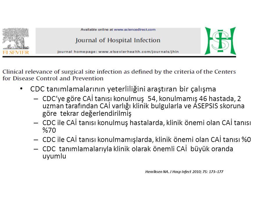 CDC tanımlamalarının yeterliliğini araştıran bir çalışma