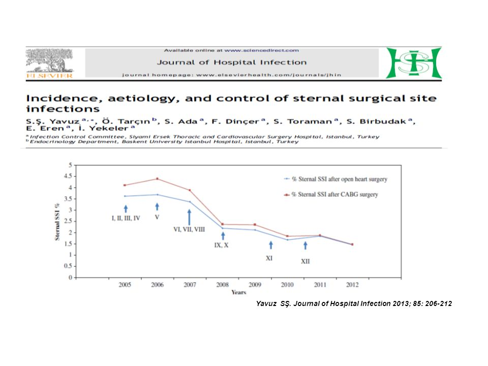 Yavuz SŞ. Journal of Hospital Infection 2013; 85: 206-212