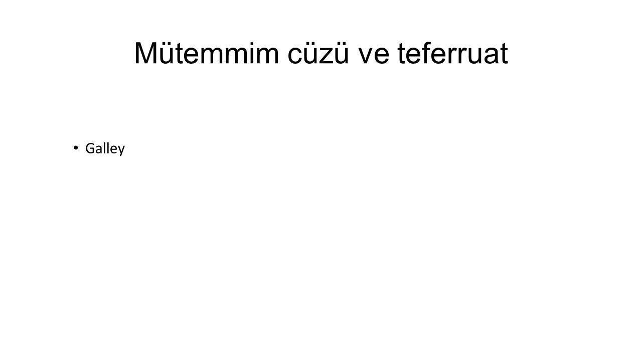 Mütemmim cüzü ve teferruat