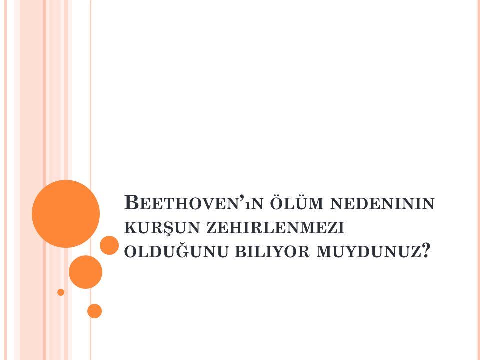Beethoven'ın ölüm nedeninin kurşun zehirlenmezi olduğunu biliyor muydunuz