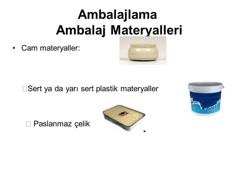 Ambalajlama Ambalaj Materyalleri