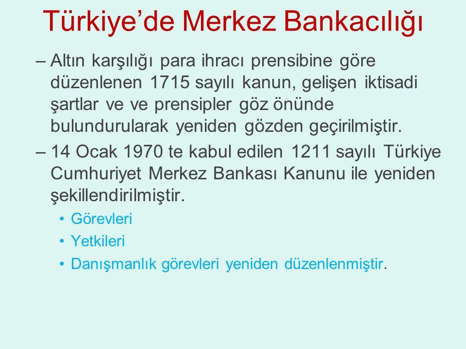 Türkiye'de Merkez Bankacılığı