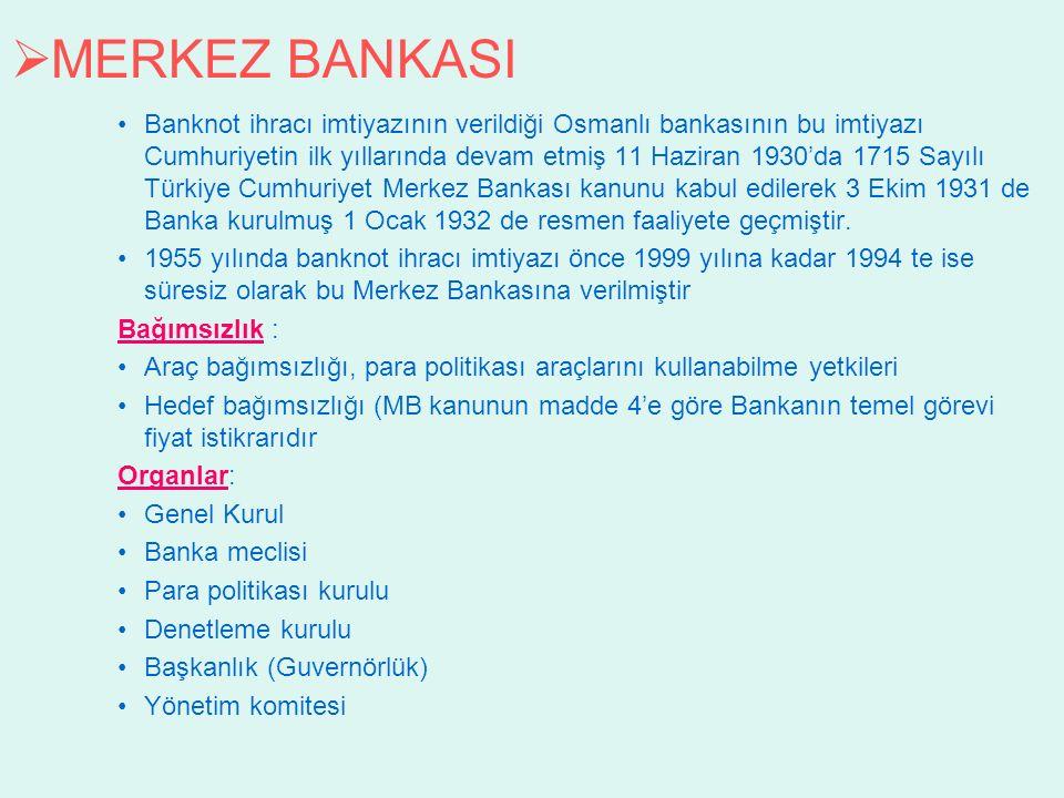MERKEZ BANKASI