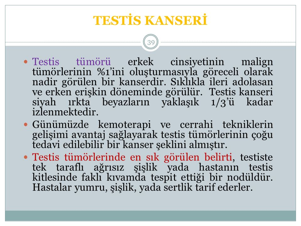 TESTİS KANSERİ