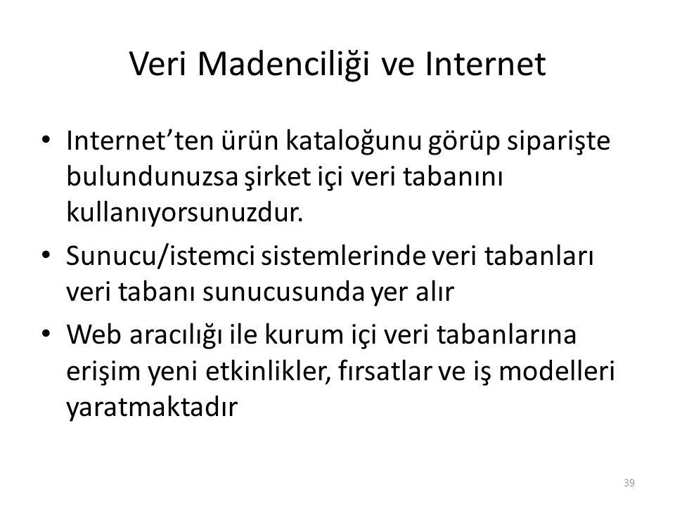 Veri Madenciliği ve Internet