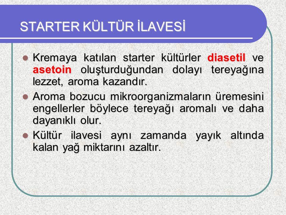 STARTER KÜLTÜR İLAVESİ