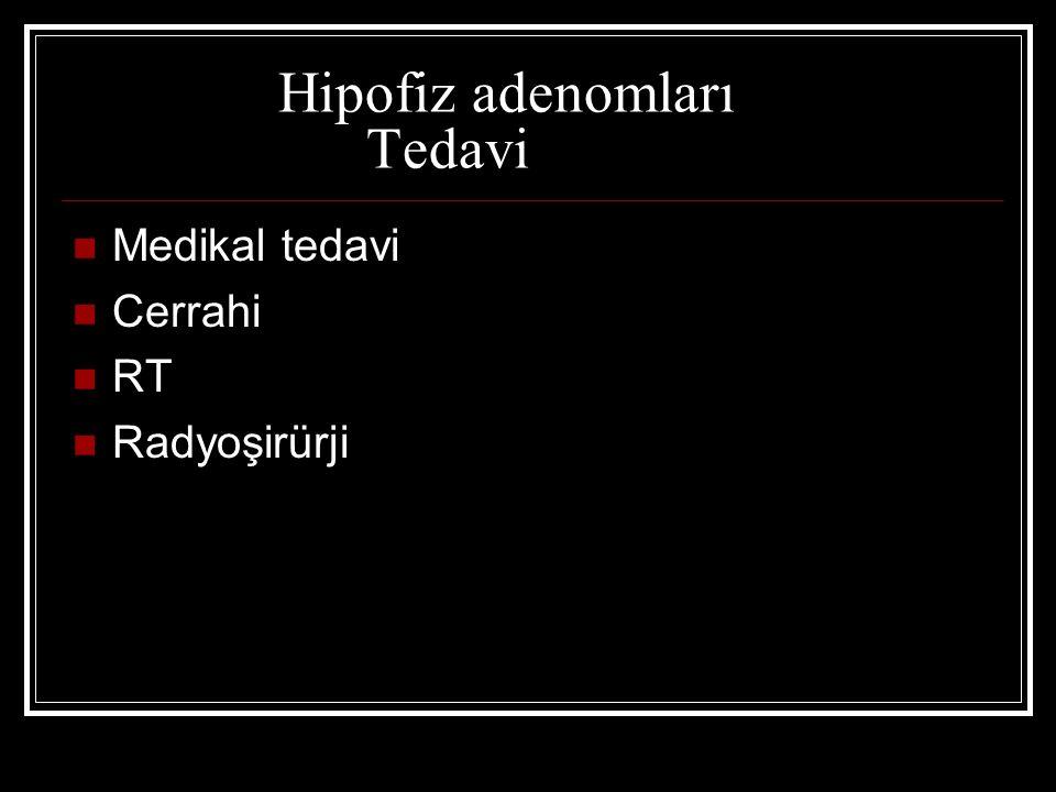 Hipofiz adenomları Tedavi
